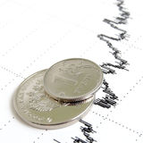 Exhange ruble rate. Stock Images