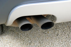 Exhaust. Two exhaust pipes of an automobile Stock Photography