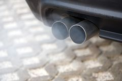 Exhaust Blows Stock Photo