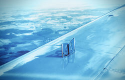 Exhaust brake pads on the wing Royalty Free Stock Image