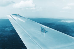Exhaust brake pads on the wing Royalty Free Stock Photography