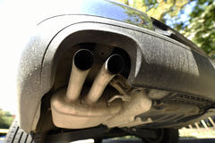 Exhaust double pipe Stock Photography