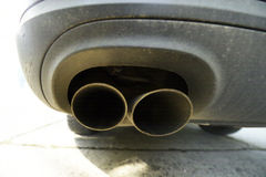 Exhaust double pipe Royalty Free Stock Image