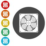 Exhaust fan icon. Simple  icons set Stock Images