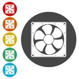 Exhaust fan icon. Simple  icons set Stock Image