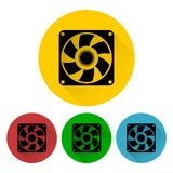 Exhaust fan icon set Royalty Free Stock Photo