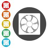 Exhaust fan icon. Simple  icons set Royalty Free Stock Photography