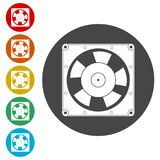 Exhaust fan icon. Simple vector icons set Stock Photo