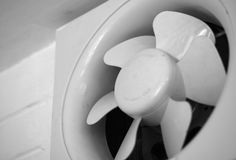 EXHAUST FAN MOUNTED ON WALL Royalty Free Stock Photos