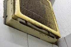 Exhaust fan. That is not clean,There are plenty of dirt Royalty Free Stock Photos