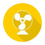 Exhaust fan vector icon with long shadow Royalty Free Stock Photos