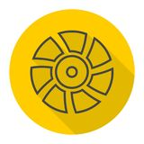 Exhaust fan vector icon with long shadow Stock Photography