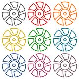 Exhaust fan vector icons set Royalty Free Stock Images