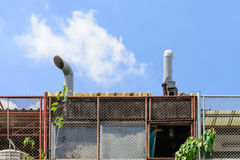 Exhaust hood on roof of resturant Royalty Free Stock Photo