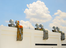 Exhaust hoods. With blue sky Royalty Free Stock Photos