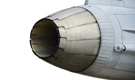 Exhaust of military aircraft Royalty Free Stock Image