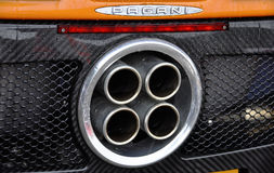 Exhaust of a Pagani Zonda F Royalty Free Stock Image