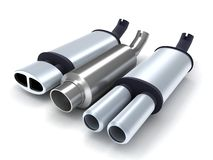 Exhaust-pipe. On isolated background (done in 3d Royalty Free Stock Photo