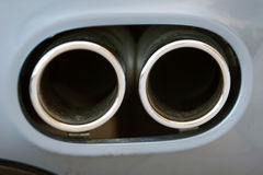 Exhaust pipe. Of a sports car Royalty Free Stock Photos