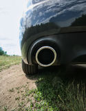 Exhaust pipe and back part Stock Image