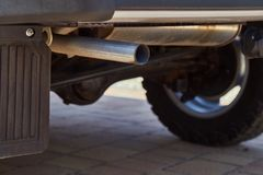 Exhaust Pipe Closeuo. Exhaust pipe of a car Stock Images