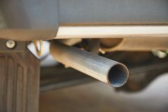 Exhaust Pipe Closeuo Royalty Free Stock Photography