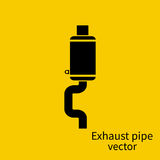 Exhaust pipe icon Stock Photography