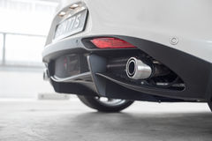 Exhaust pipe. On an Italian sports car Stock Photography