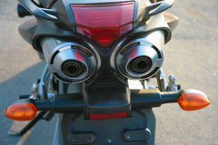 Exhaust pipe of motorcycle Stock Photos