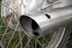 Exhaust pipe motorcycle hole Royalty Free Stock Images