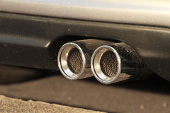 Car exhaust pipe Royalty Free Stock Image