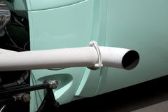 Exhaust pipe. Old car exhaust pipe  background Royalty Free Stock Photos
