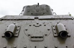 Exhaust pipe of the. Tank t-34 close-up Royalty Free Stock Photos