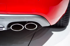 Exhaust pipes. Of modern car Royalty Free Stock Image