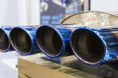 The exhaust pipes for automobile ; royalty free stock images