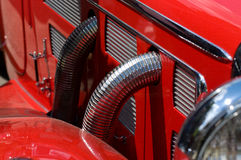 The exhaust pipes of an old car. Stock Photography