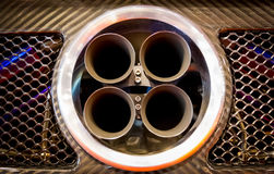 Exhaust pipes of a sports car Royalty Free Stock Images