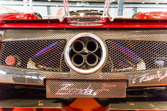 Exhaust pipes of a sports car. royalty free stock photography
