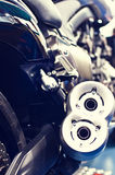 Exhaust of a speed motor bike Royalty Free Stock Image