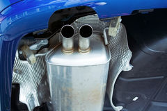 Exhaust system muffler Stock Photos
