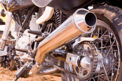 Exhaust tube of a motorbike Royalty Free Stock Images