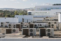 Exhaust vents of industrial air conditioning royalty free stock photos