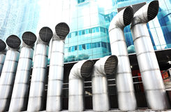 Exhaust vents system Royalty Free Stock Photo