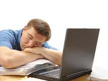 Exhausted Royalty Free Stock Image