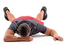 Exhausted athletic man Stock Images
