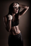 Exhausted brunette after workout Royalty Free Stock Image