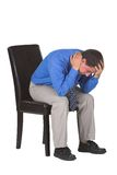 Exhausted business man royalty free stock photo