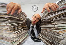 Exhausted businessman Stock Images