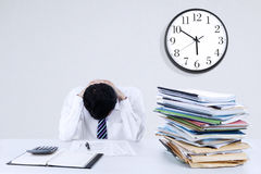 Exhausted businessman Royalty Free Stock Images