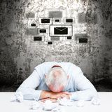 Exhausted businessman Royalty Free Stock Photo